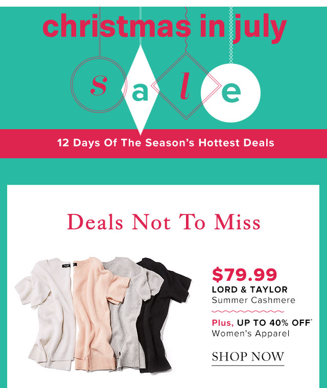 Up to 40% Off* Women's Apparel